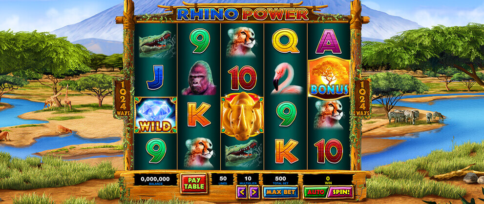 Safari Slots Free Slot Machine Game Rhino Power Caesars Games